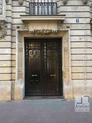 Porte Cochère Acier - 9 Avenue Elysée Reclus - Paris 7