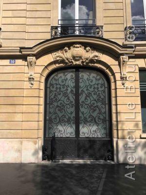 Porte Cochère Acier Art Nouveaux - 10 AVENUE HOCHE PARIS 16