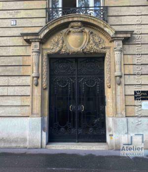 Porte Cochère  Acier Forgé - 44 AVENUE KLEBER PARIS 16