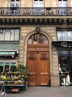 Porte Monumentale Avec Baie D'entresol 12 Quai De La Mégisserie - Paris 1er