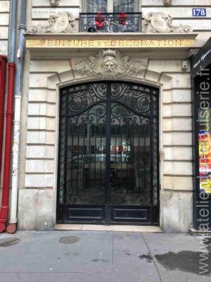 Porte Rue En Acier 178  Avenue Victor Hugo Paris 16