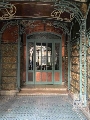 Porte Sas Art Nouveau - 14 RUE DE LAFONTAINE PARIS 16 PORTE SAS