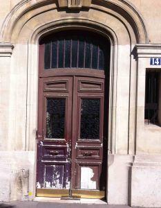 Porte Sur Rue 14 Bd E Quinet 0 Avant Restauration