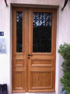 Porte Sur Rue Corbeilller 3 Tiercée Chêne Avec Grilles 2